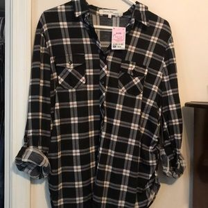 NWT Maternity Button Up